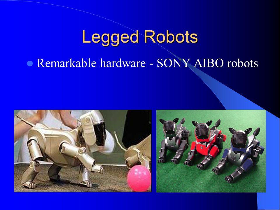 Legged Robots Remarkable hardware - SONY AIBO robots