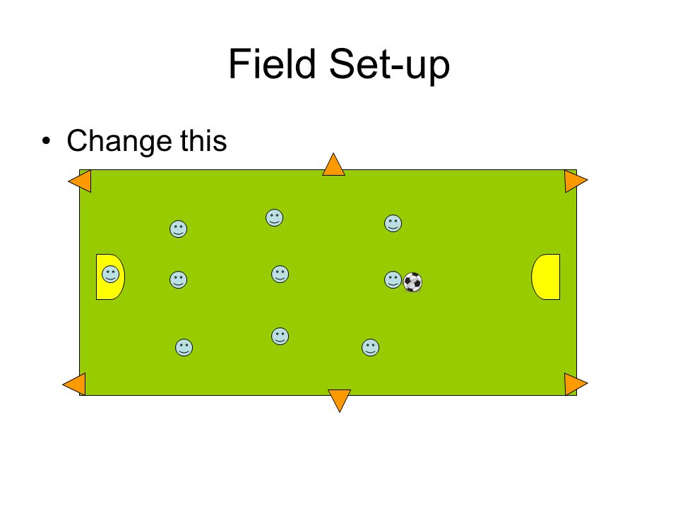 Field Set-up Change this