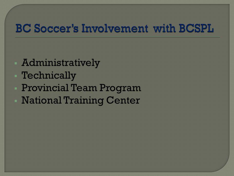  Administratively  Technically  Provincial Team Program  National Training Center
