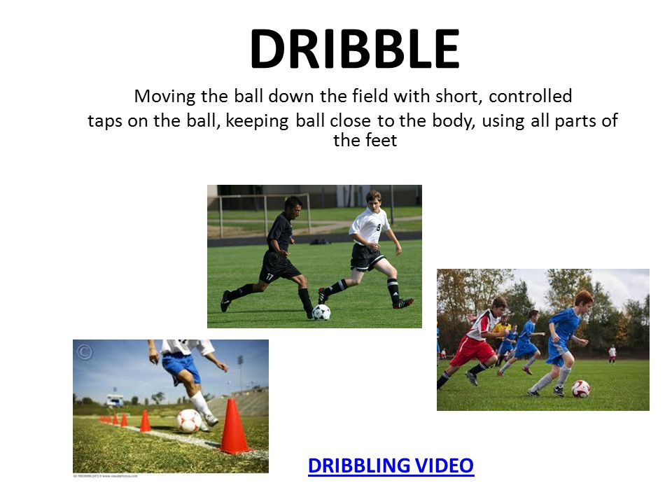Shooting 1.Non-kicking foot next to ball 2. Strike the center of the ball 3.