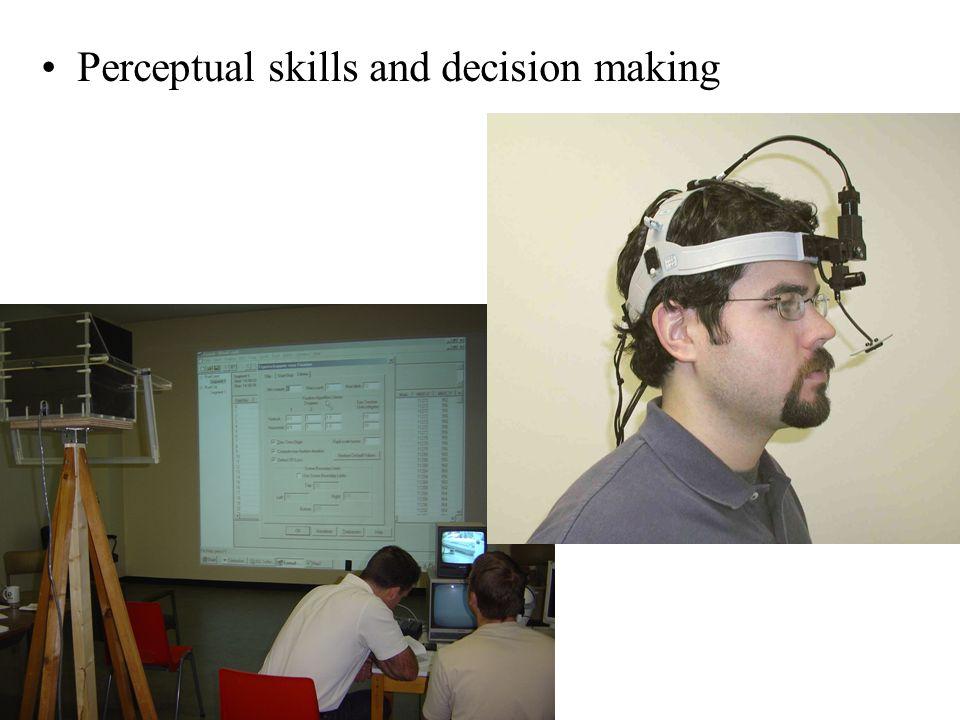 Perceptual skills and decision making