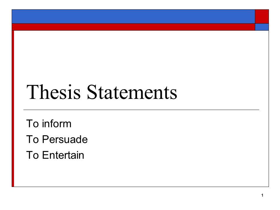 2 Purpose > Central Idea (Thesis) Specific Purpose States Goal of Essay