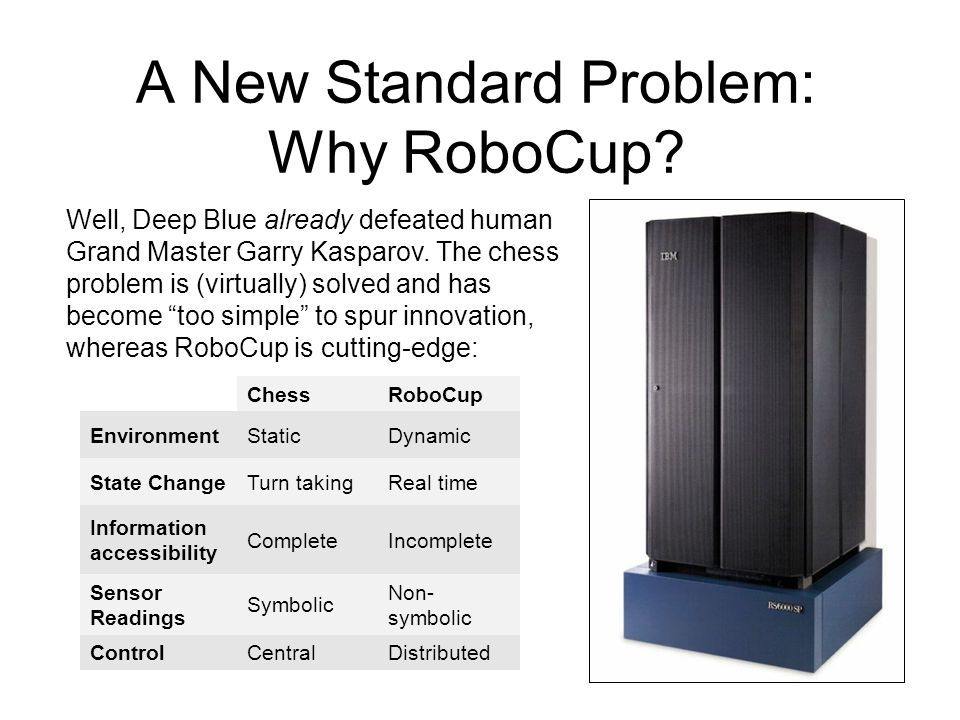 A New Standard Problem: Why RoboCup.