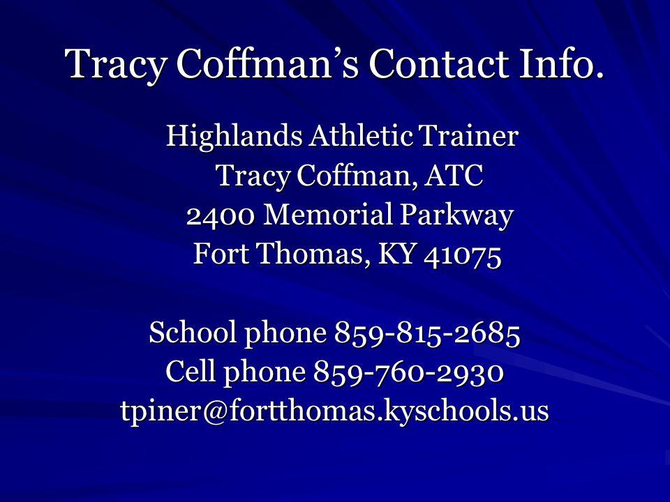 Tracy Coffman's Contact Info.