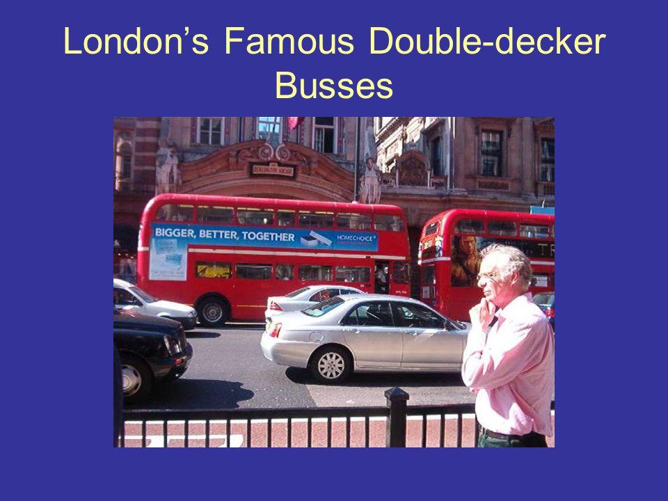 London's Famous Double-decker Busses
