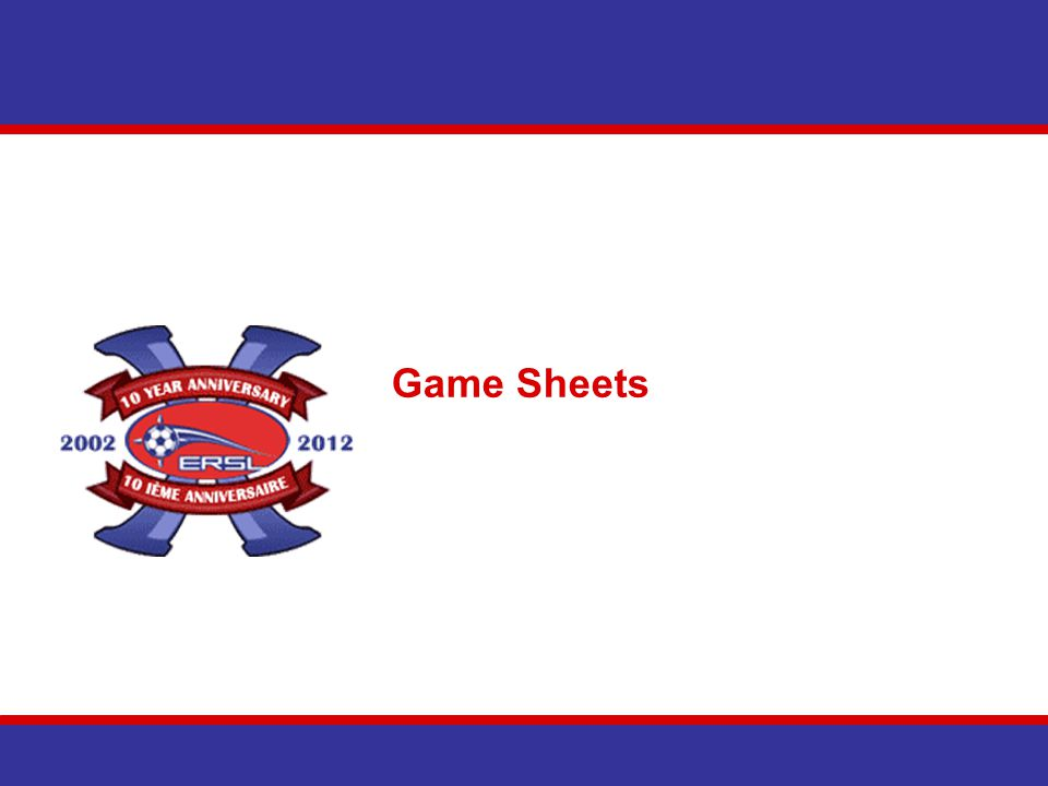 Game Sheets