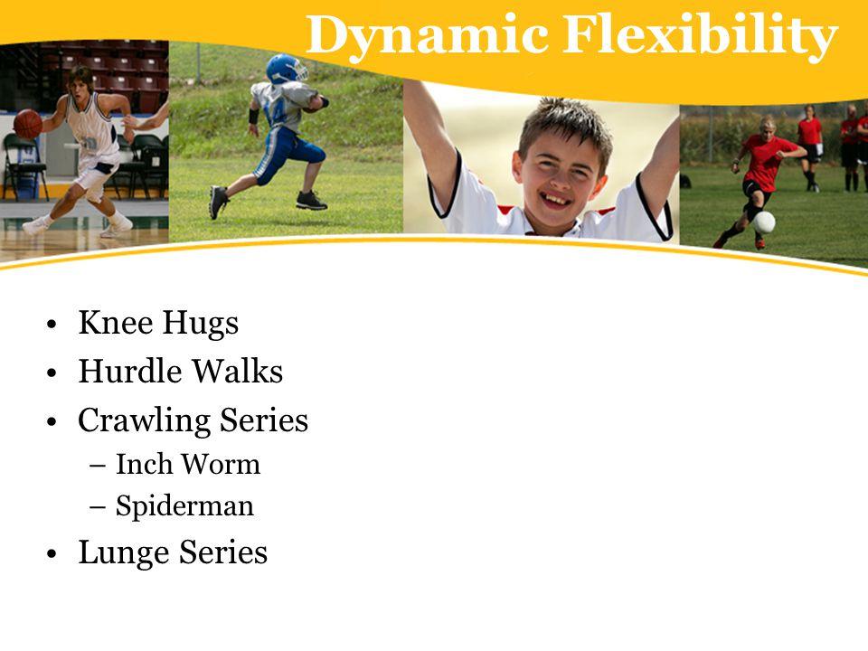 Dynamic Flexibility Knee Hugs Hurdle Walks Crawling Series –Inch Worm –Spiderman Lunge Series