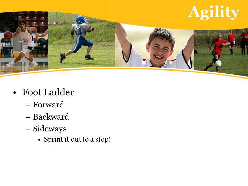Agility Foot Ladder –Forward –Backward –Sideways Sprint it out to a stop!