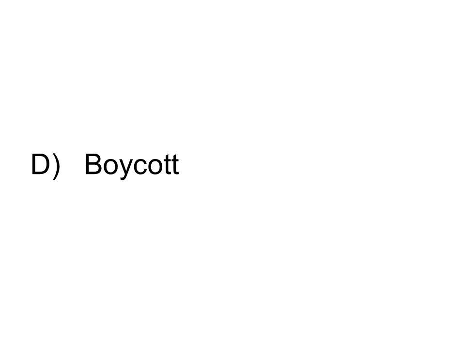 D) Boycott