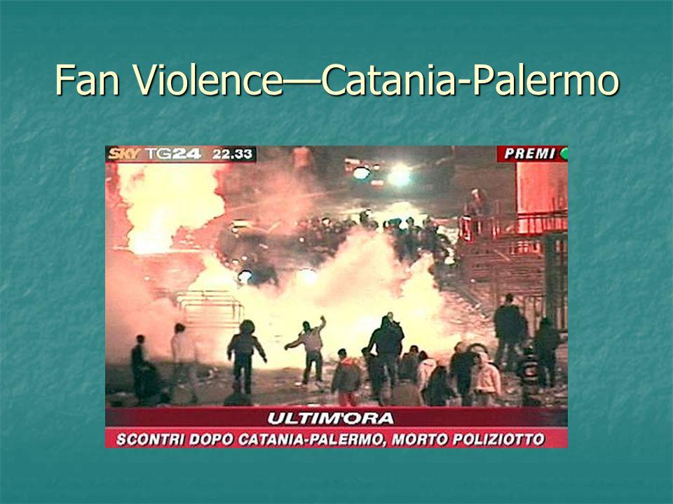 Fan Violence—Catania-Palermo