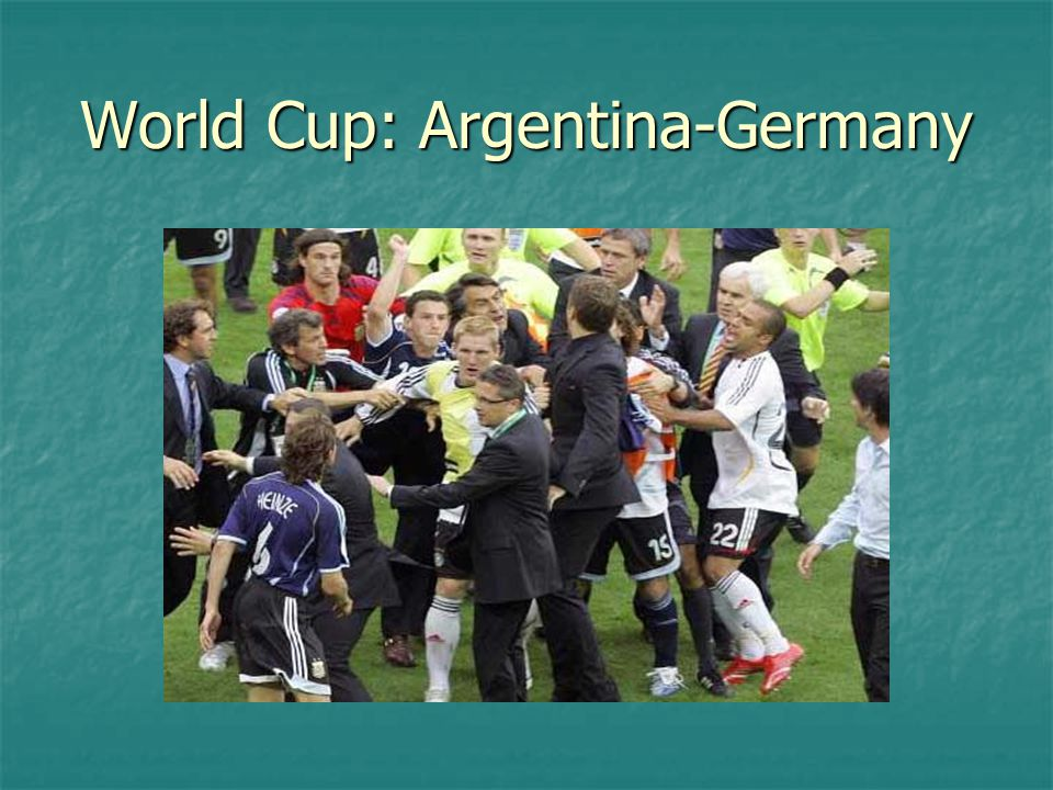 World Cup: Argentina-Germany