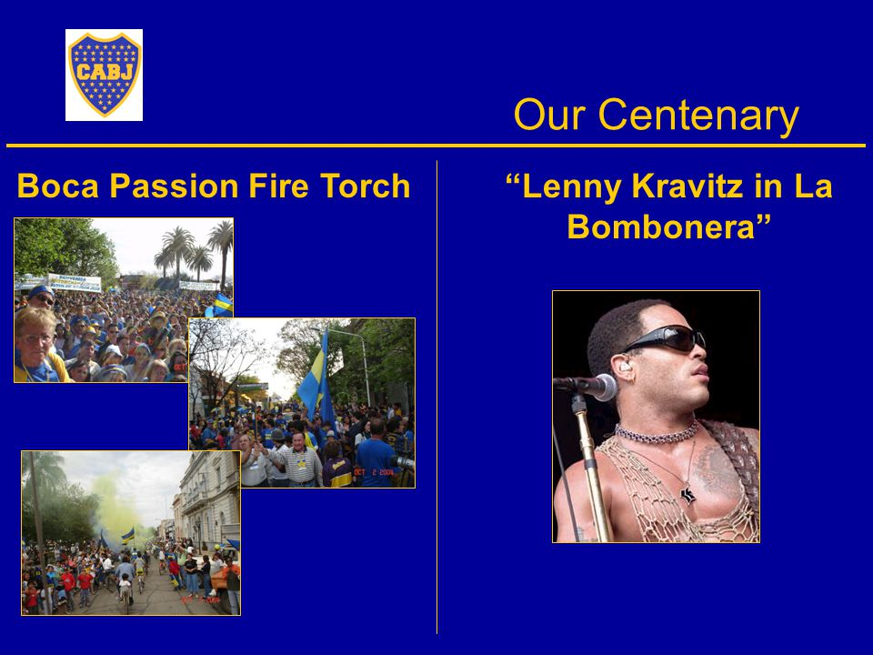Our Centenary Boca Passion Fire Torch Lenny Kravitz in La Bombonera