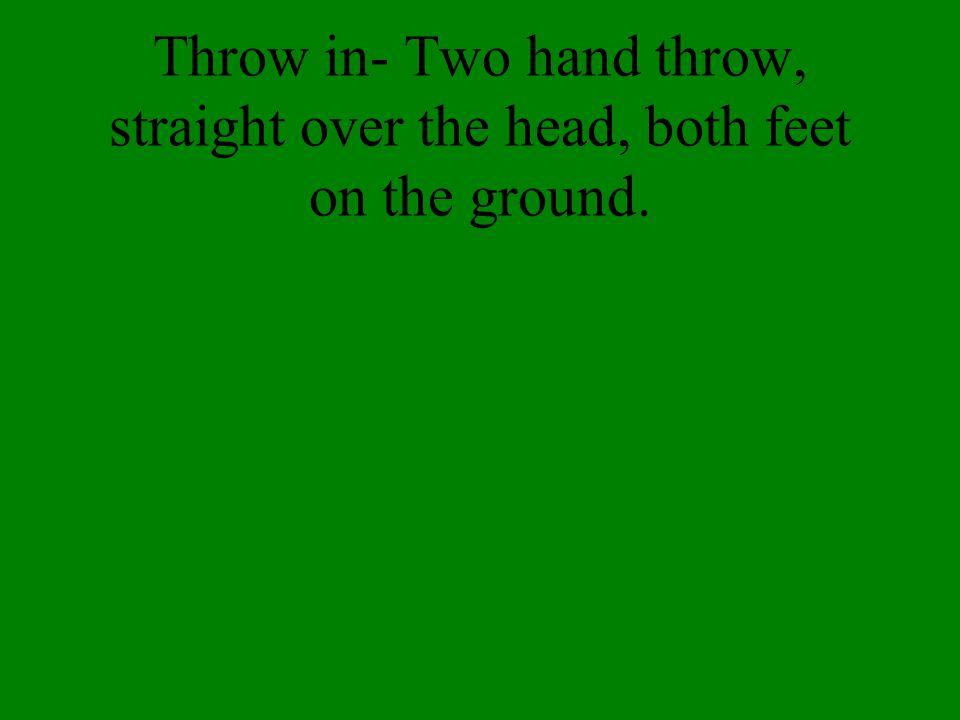 Goal Kick- sometimes called a fullback kick.