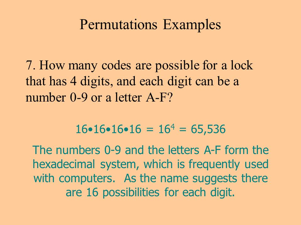 Permutations Examples 7.