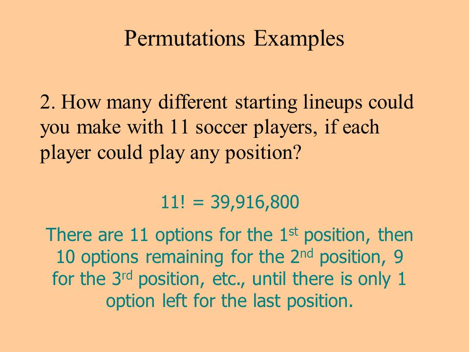 Permutations Examples 2.