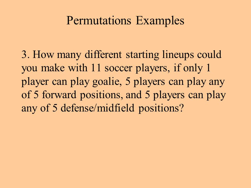 Permutations Examples 3.