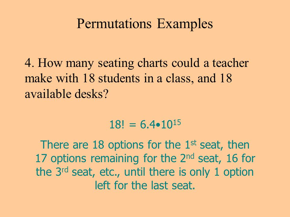 Permutations Examples 4.