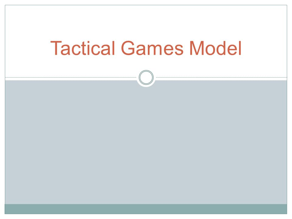 Level of Tactical Complexity Tactical Problem IIIIIIIV Scoring 1.