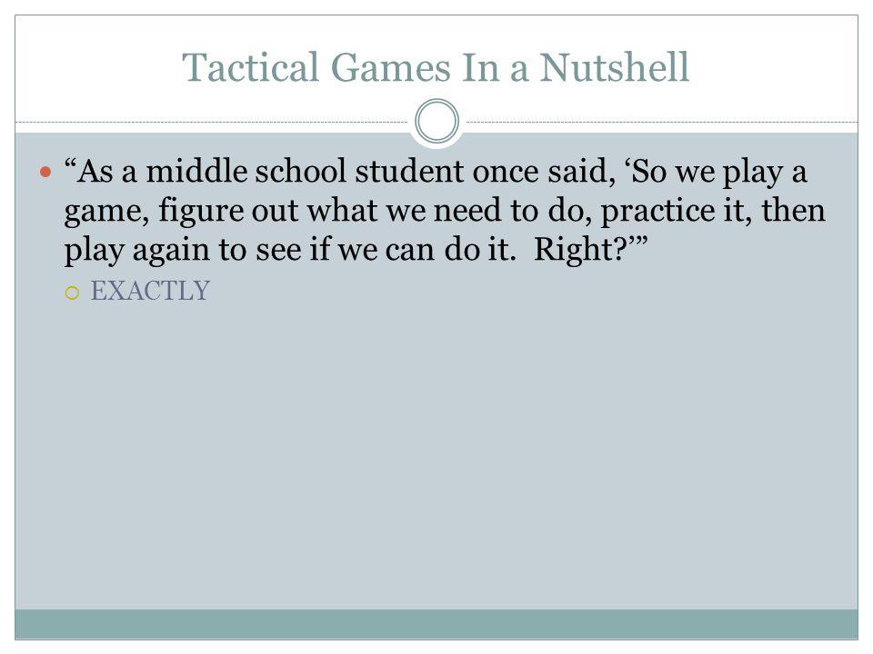 Tactical Games Model