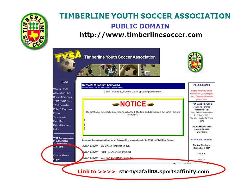 TIMBERLINE YOUTH SOCCER ASSOCIATION What is required on an Official Game report before it can be mailed in.