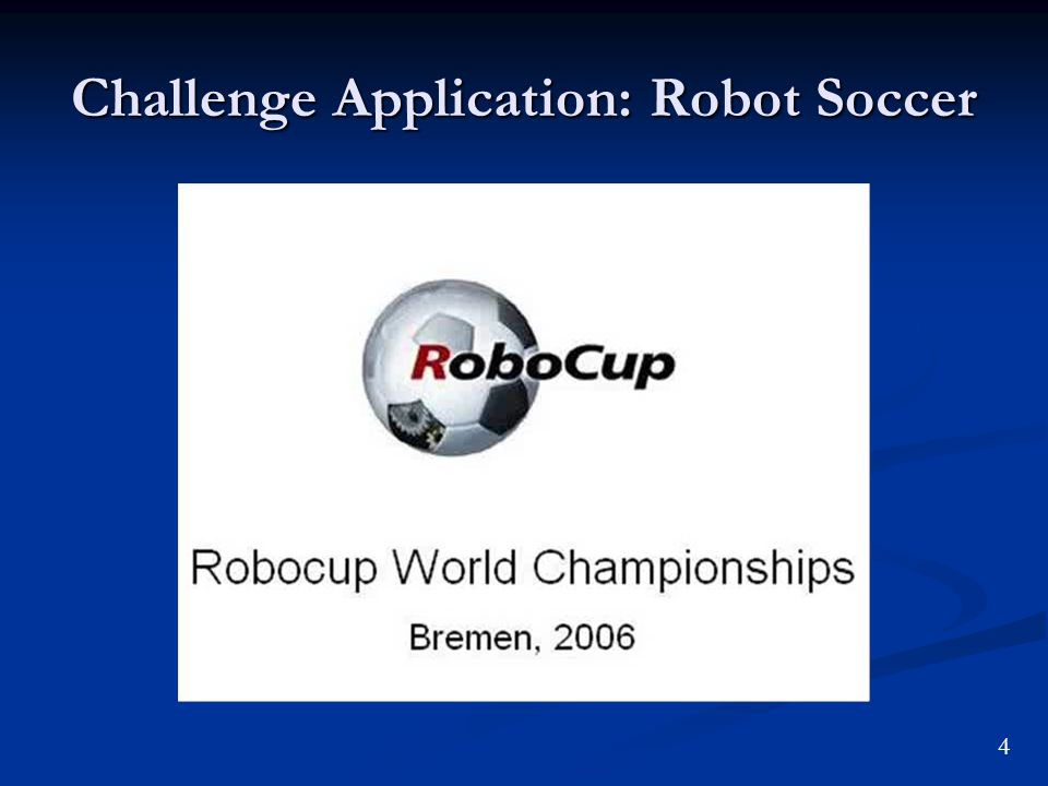 Challenge Application: Robot Soccer 4