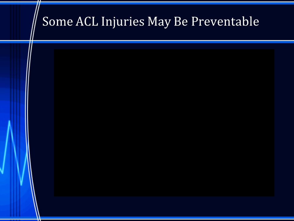Epidemiology About 100,000-250,000 ACL Injuries in the U.S.