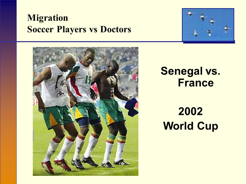 Migration Soccer Players vs Doctors Senegal vs. France 2002 World Cup