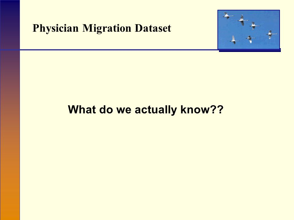 Physician Migration Dataset What do we actually know