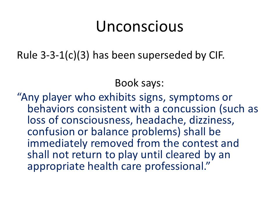 CIF Concussion or Head Injury 313.
