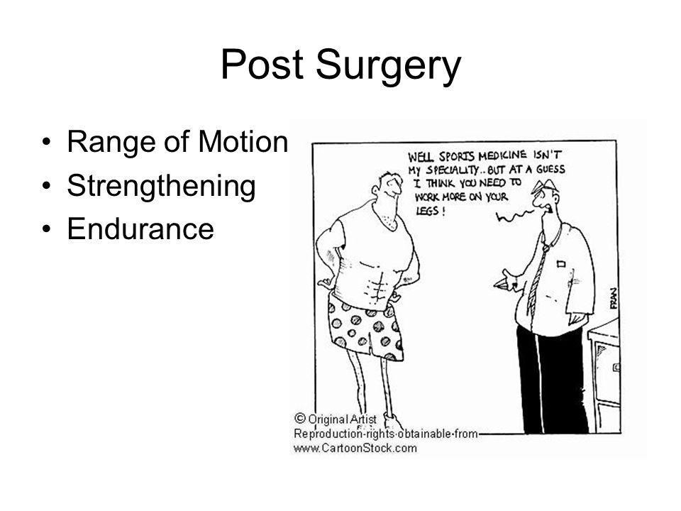 Post Surgery Range of Motion Strengthening Endurance