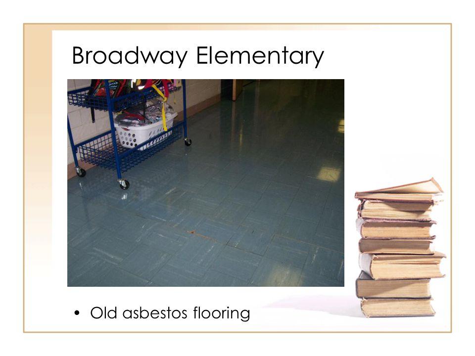 Broadway Elementary Old asbestos flooring