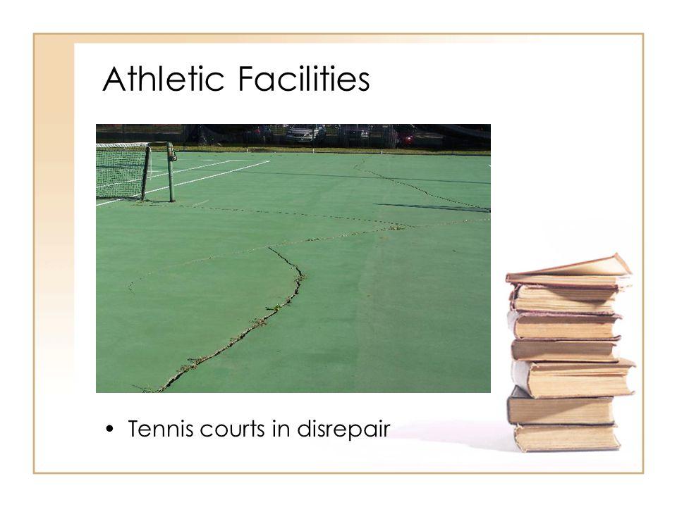 Athletic Facilities Tennis courts in disrepair