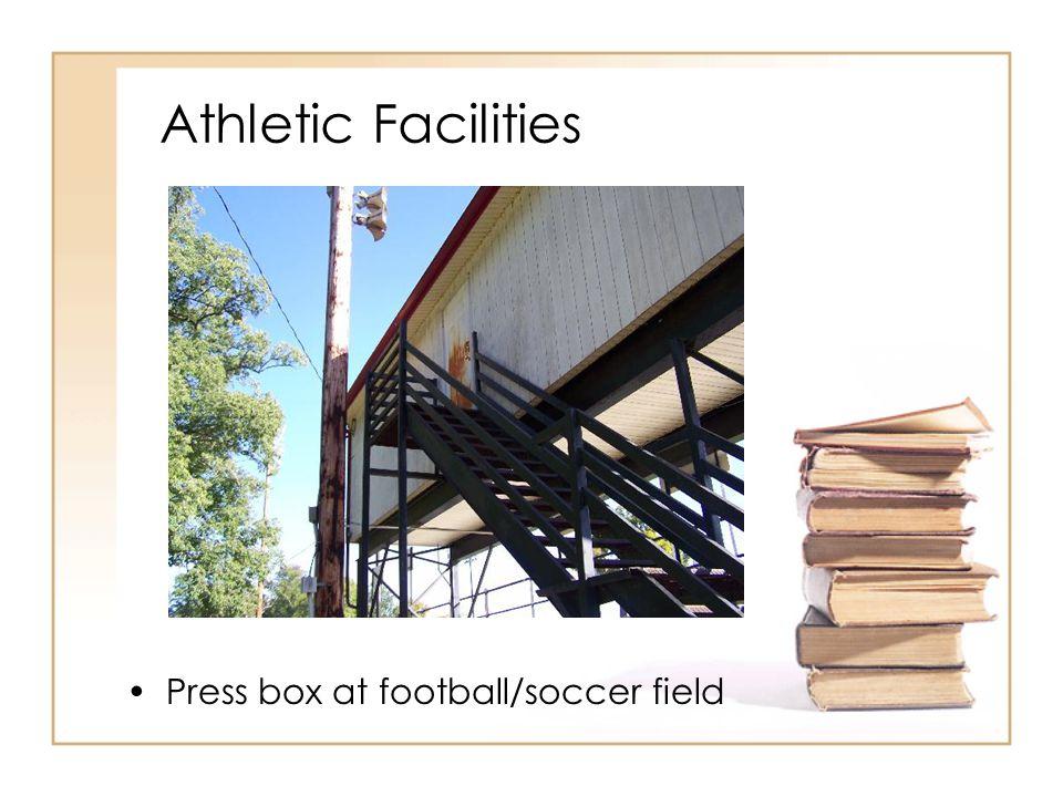 Athletic Facilities Press box at football/soccer field