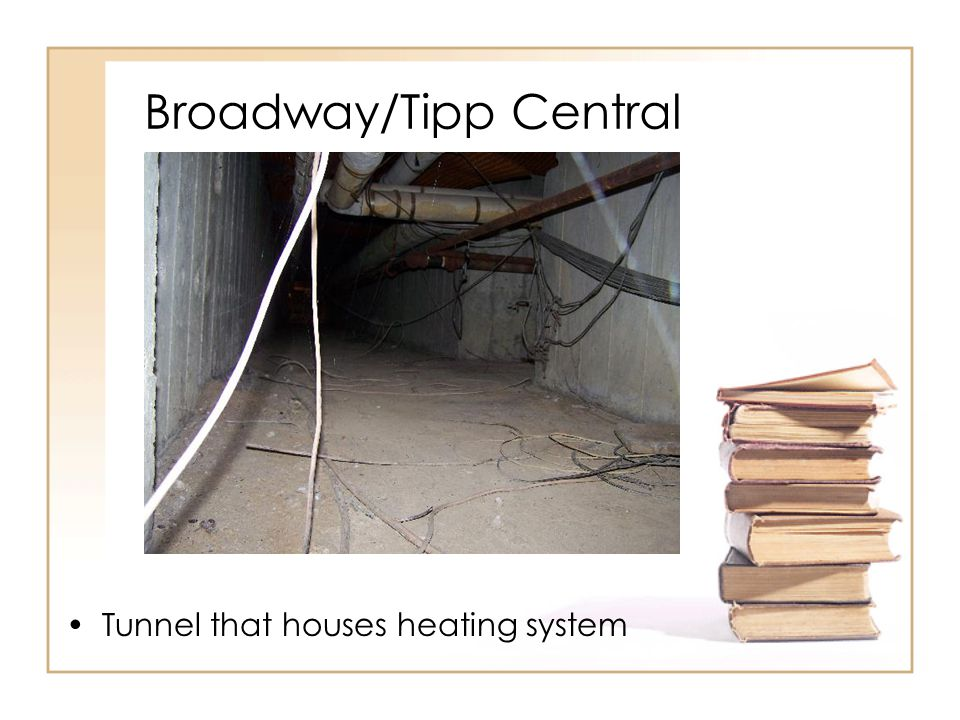 Broadway/Tipp Central Tunnel that houses heating system