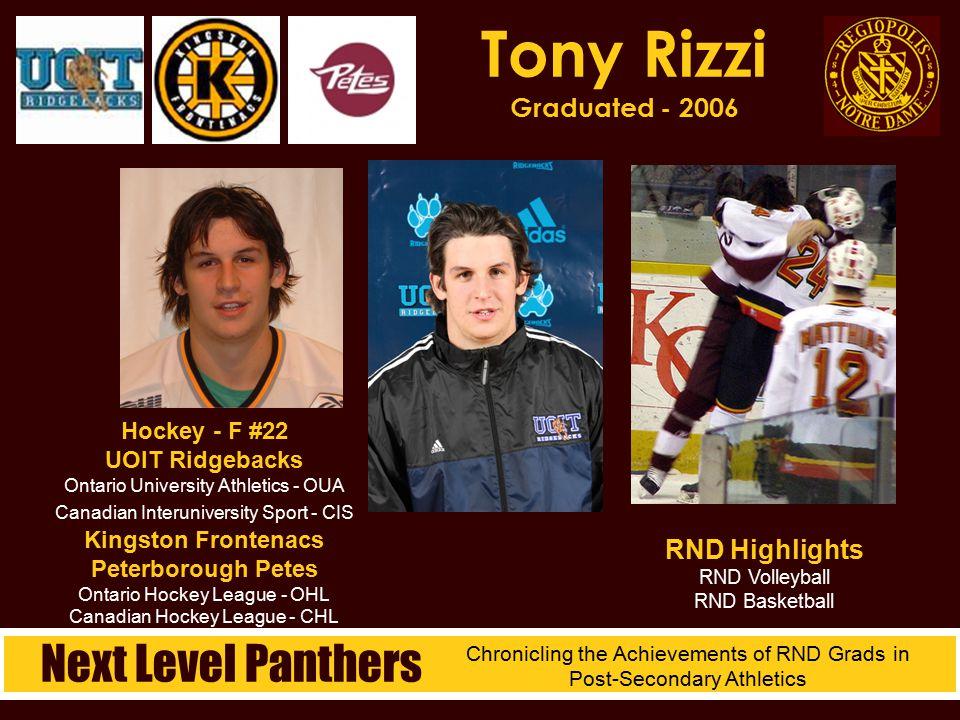 Hockey - F #22 UOIT Ridgebacks Ontario University Athletics - OUA Canadian Interuniversity Sport - CIS Kingston Frontenacs Peterborough Petes Ontario