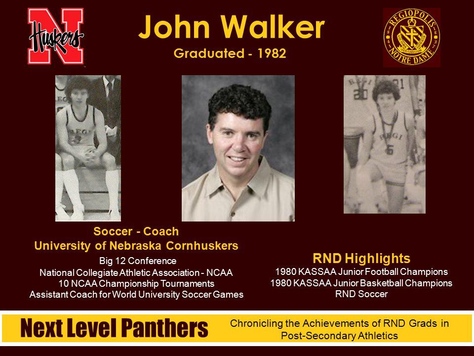 Soccer - Coach University of Nebraska Cornhuskers Big 12 Conference National Collegiate Athletic Association - NCAA 10 NCAA Championship Tournaments A