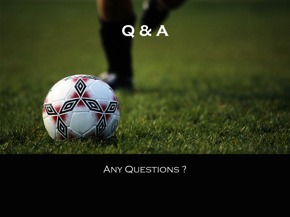 Q & A Any Questions ?