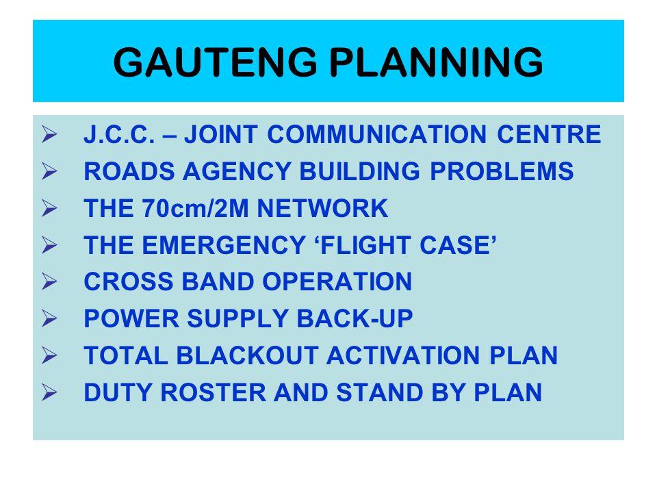 GAUTENG PLANNING  J.C.C.