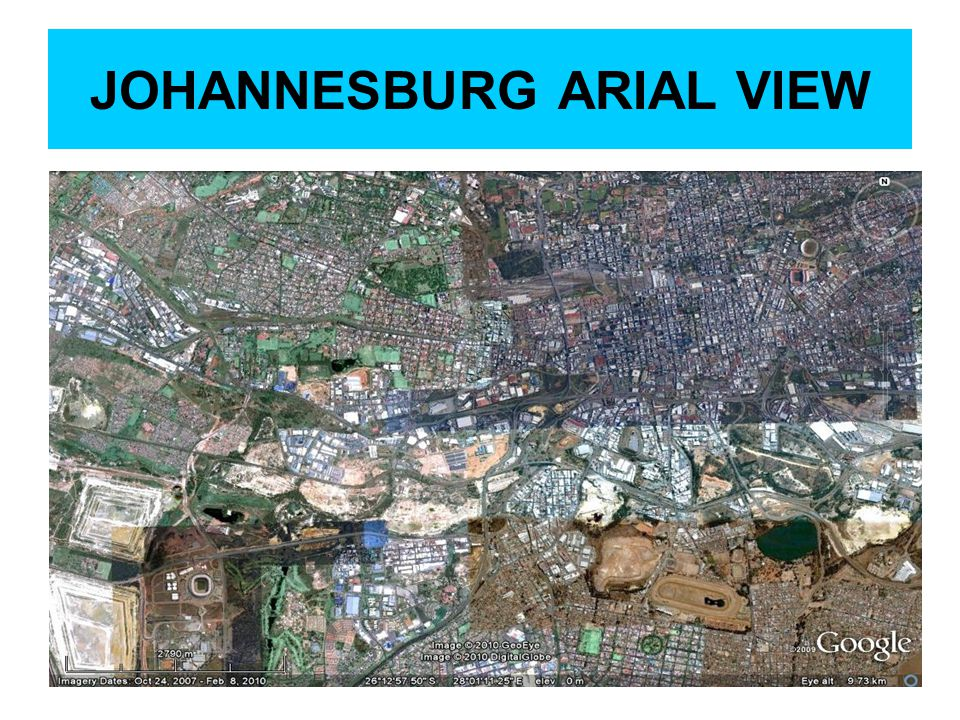 JOHANNESBURG ARIAL VIEW