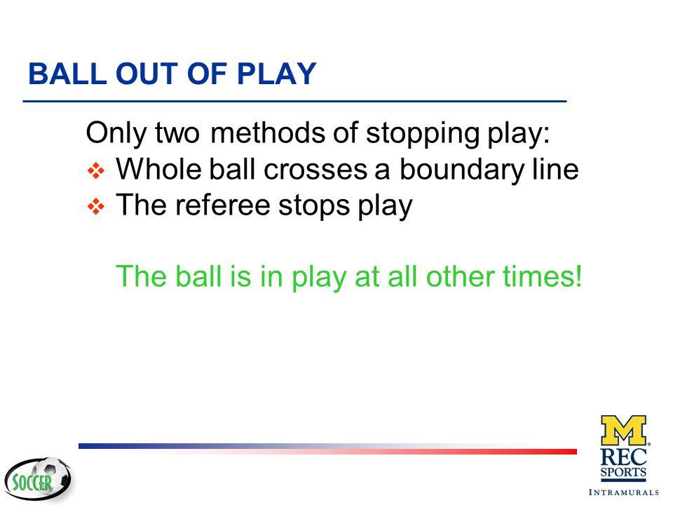 Kick-Off Infractions v Players in wrong half of field v Ball does not move forward v Taken before referee's signal u Retake the kick v Kicker plays ba