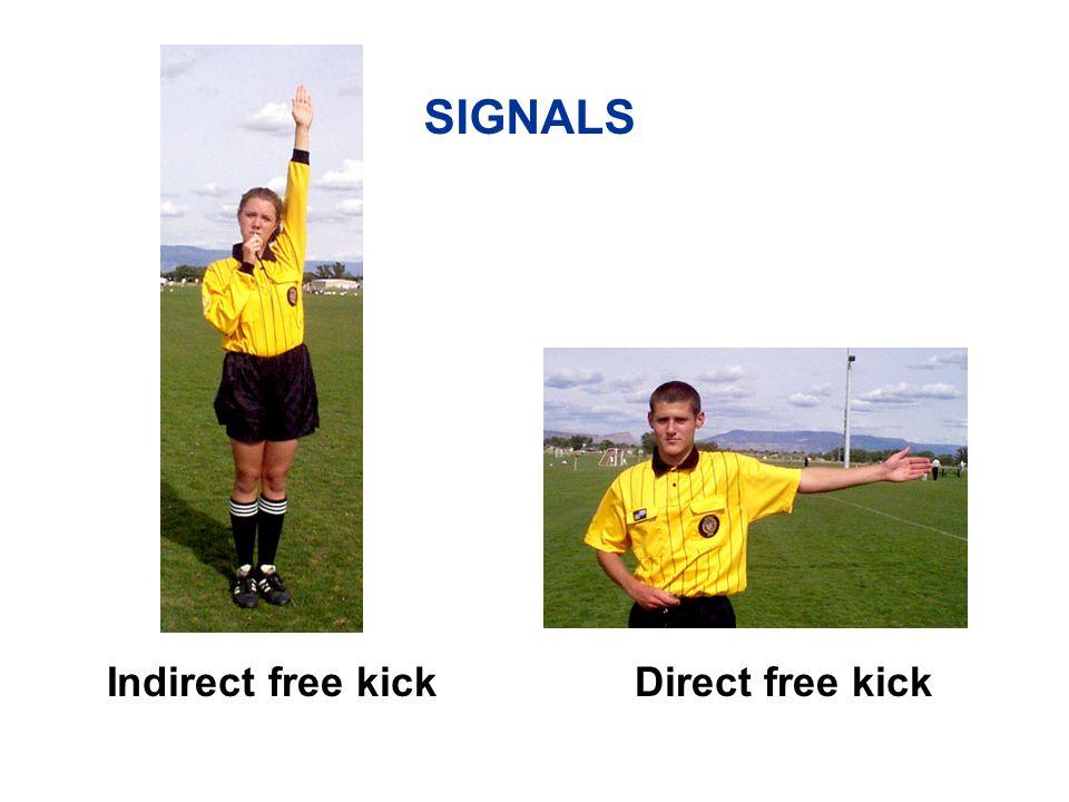 Penalty kick SIGNALS