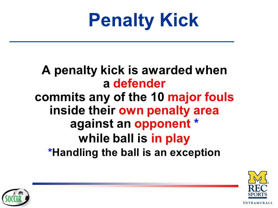 Direct Free Kick or Penalty Kick MISCONDUCT RESTARTS