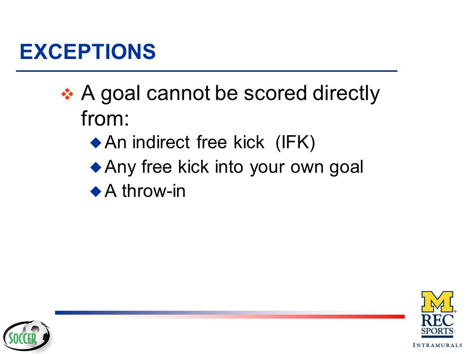 No Goal Goal No Goal WHAT'S A GOAL? AND WHAT'S NOT?