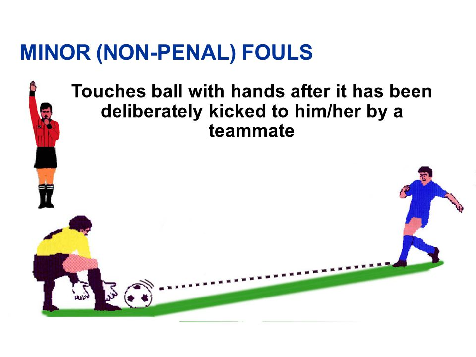 Touches the ball again with his/her hands after it has been released from his/her possession and has not touched any other player.