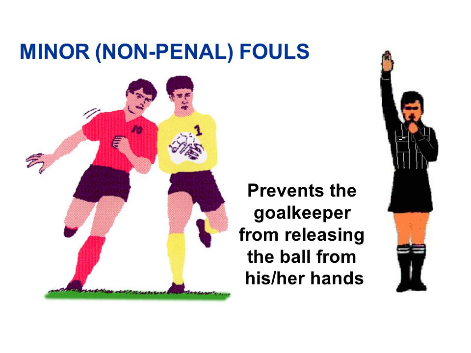 Impeding the progress of an opponent MINOR (NON-PENAL) FOULS