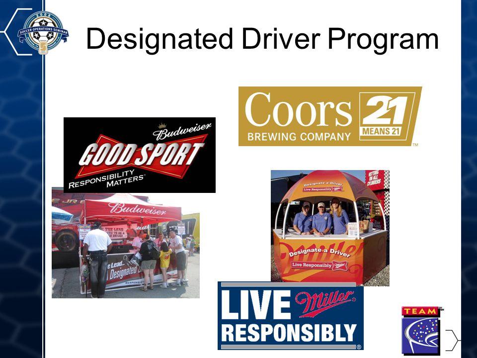12 Designated Driver Program