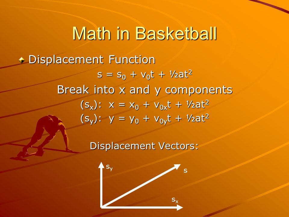 Math in Baseball F Magnus Force = KwVC v K = Magnus Coefficient w = spin frequency V = velocity C v = drag coefficient More spin = bigger curve Faster pitch = bigger curve