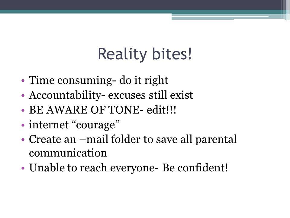 Reality bites.