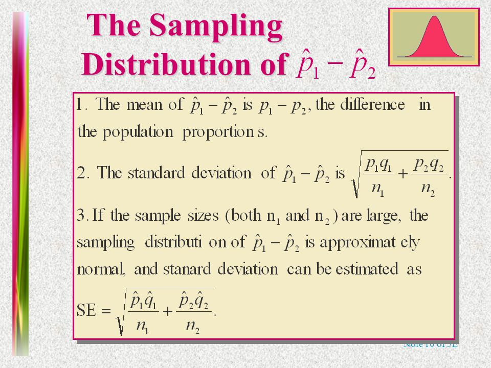Note 10 of 5E The Sampling Distribution of
