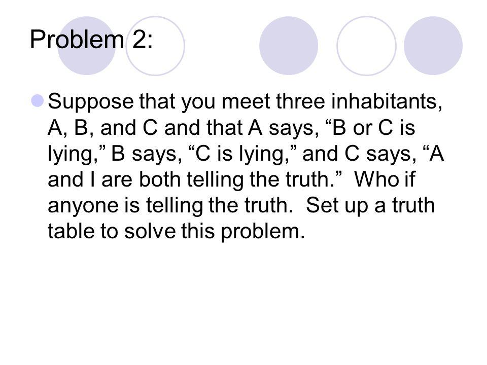 Propositional logic Practice Problem.